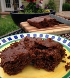 Gluten Free Sweet Potato Chocolate Chip Brownies